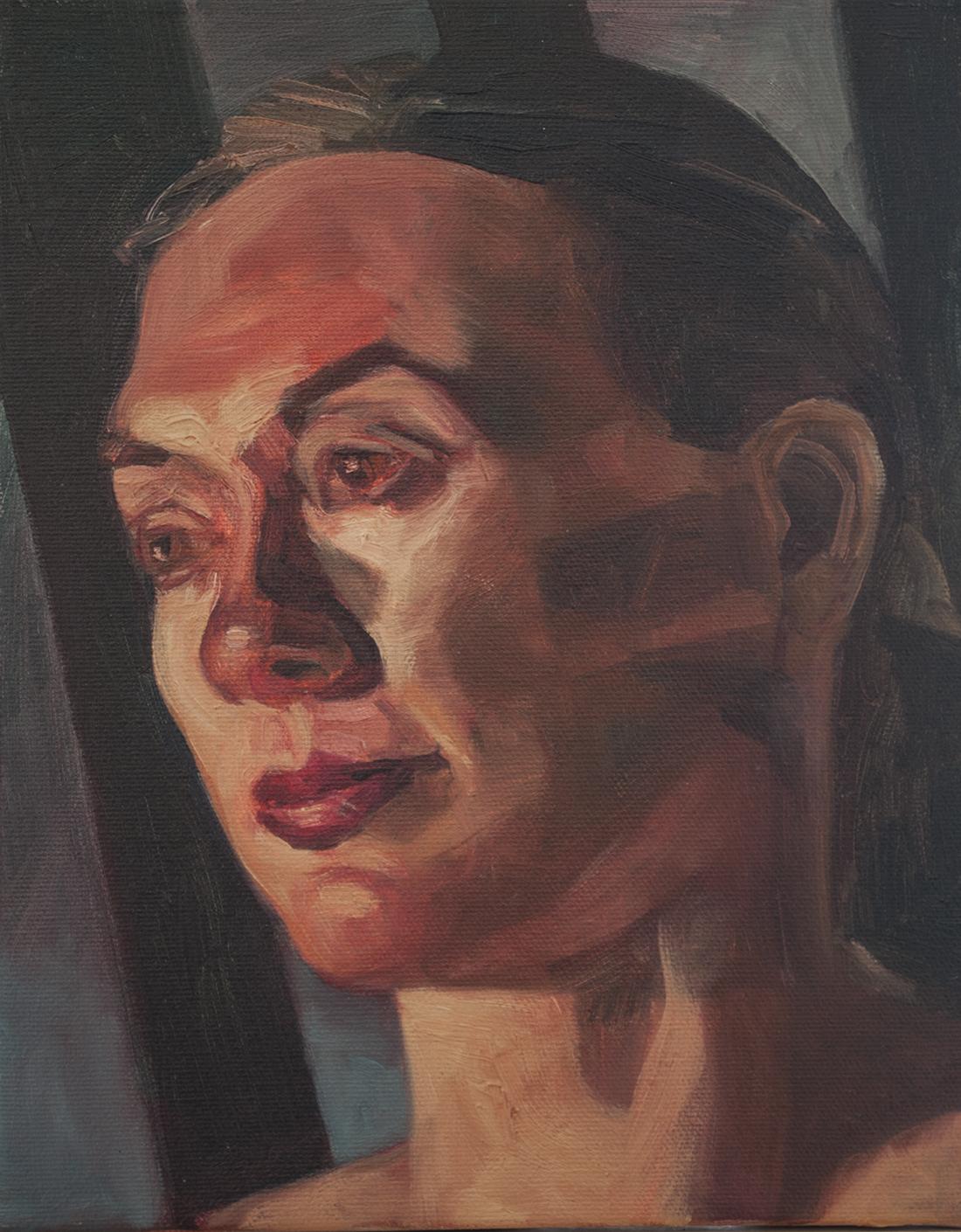 A woman's head